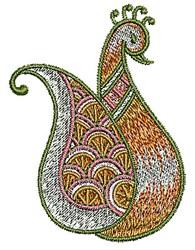 Paisley Bird Henna embroidery design