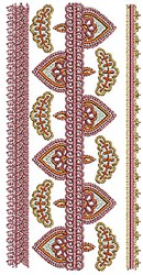 Henna Floral Border embroidery design