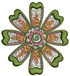 Flower Henna embroidery design
