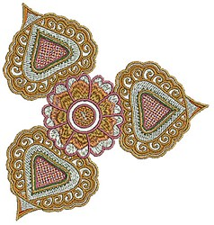 Bloom Henna embroidery design