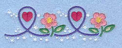 Hearts and Flowers embroidery design