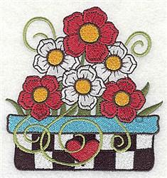 Flower Planter embroidery design