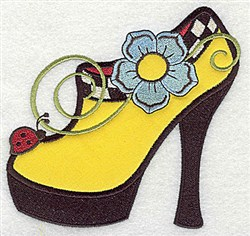 Flower Shoe Applique embroidery design