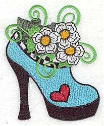 Floral Shoe embroidery design