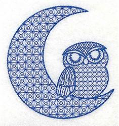 Jacobean Owl embroidery design