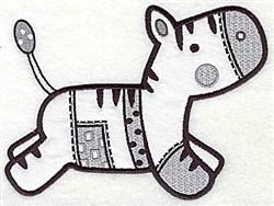 Zebra Applique embroidery design