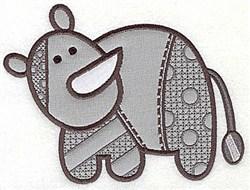 Rhino Appliques embroidery design