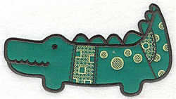 Crocodile Applique embroidery design