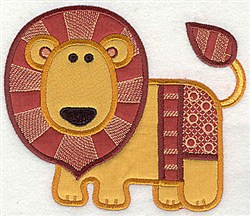 Lion Applique embroidery design