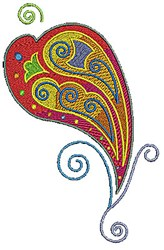 Scrollworks Heart Swirl embroidery design