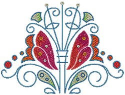 Scrollworks Flowers embroidery design