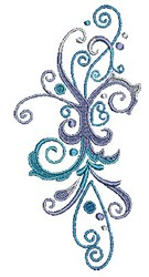 Scrollworks Swirls Decor embroidery design