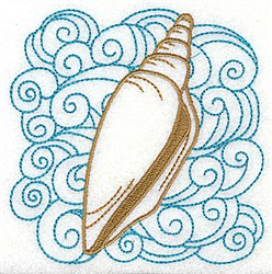 Junonia Shell & Swirls embroidery design