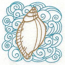 Seashell & Swirls embroidery design