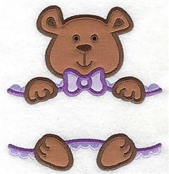 Teddy bear Double Applique embroidery design