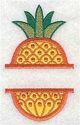 Pineapple Applique embroidery design