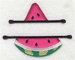 Watermelon Applique Frame embroidery design