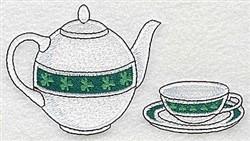 Irish Teapot embroidery design