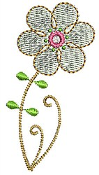 White Flower embroidery design