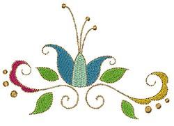 Swirly Flower embroidery design