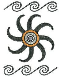 Sun & Swirls embroidery design