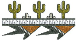 Southwestern Cactus Border embroidery design