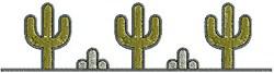Southwest Cactus Border embroidery design