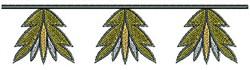 Southwest Leaf Border embroidery design