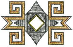 Desert Border embroidery design