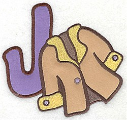 Letter Applique - J embroidery design