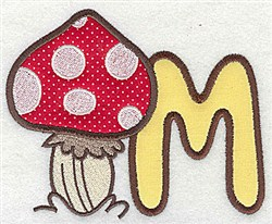 Letter Applique - M embroidery design