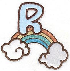 Letter Applique - R embroidery design