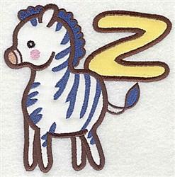 Letter Applique - Z embroidery design