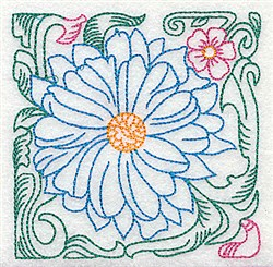 Big Tropical Bloom embroidery design