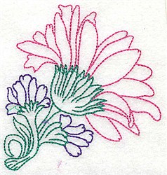Tropical Mum embroidery design