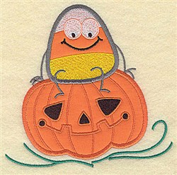 Jack O Candy Corn embroidery design