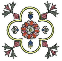 Tudor Flower embroidery design
