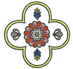 Tudor Floral embroidery design