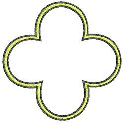 Tudor Outline embroidery design