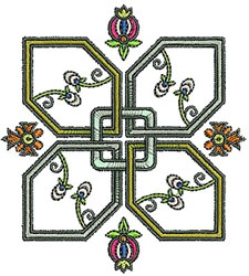 Tudor Flowers embroidery design