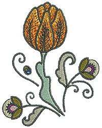 Flower Tudor embroidery design