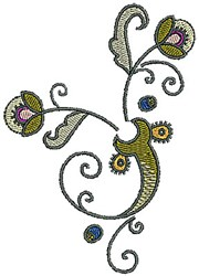 Tudor Plant embroidery design