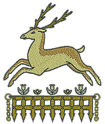 Tudor Deer Fence embroidery design