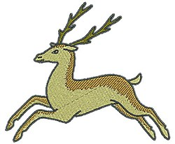 Tudor Deer embroidery design