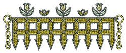 Tudor Fence embroidery design