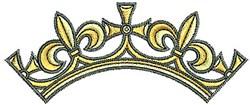 Tudor Crown embroidery design