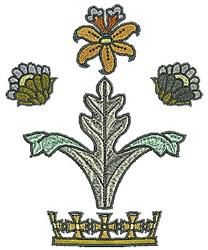 Tudor Flowers Tiara embroidery design
