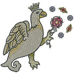 Tudor Bird embroidery design