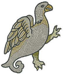 Bird Tudor embroidery design