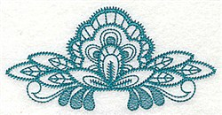 Floral Fan embroidery design